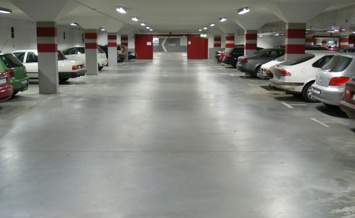 Car park, Örebro, Sweden, after 10 years of use