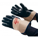 Nitrile gloves with fleece liner